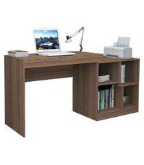 escrivaninha mesa para escritório castanho lilies móveis