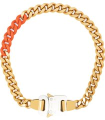 1017 alyx 9sm curb chain buckle necklace - gold