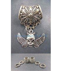 us seller-scarf slides and pendants skull angel pendant slider scarf ring