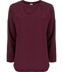aspesi boat-neck blouse - purple