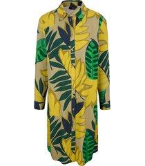 blouse miamoda groen::geel