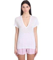 iro jessyca t-shirt in white cotton