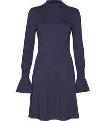 florentina dress stickad klänning blå inwear