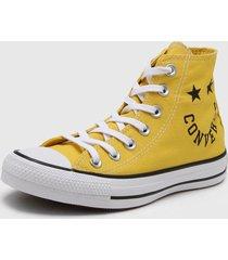 zapatilla amarilla converse chuck taylor as hi vivid