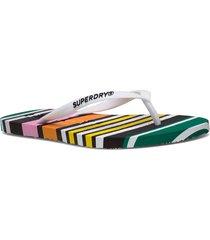 super sleek aop flip flop shoes summer shoes flip flops multi/mönstrad superdry