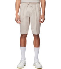 boss men's kirio natural pleat shorts