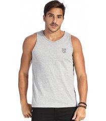 camiseta vlcs regata gola redonda cinza - cinza - masculino - algodã£o - dafiti