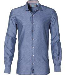 british indigo overhemd - slim fit - rood