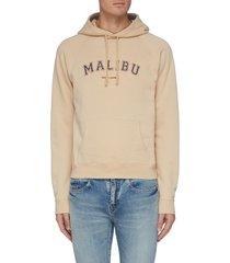 'malibu' slogan print hoodie