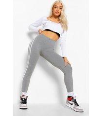 superzachte leggings met dubbele zijstrepen, grey marl