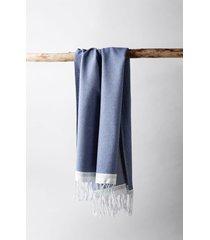 coyuchi mediterranean bath 6-piece organic cotton towel set, size washcloth in lake w/sea spray at nordstrom