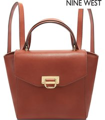 morral nine west remy convertible backpack- rojo