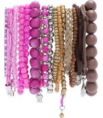 amir slama bracelets set - pink