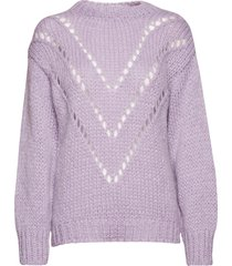 gamon-bl stickad tröja lila storm & marie