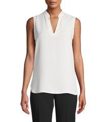 anne klein v-neck sleeveless blouse, size small in anne white at nordstrom