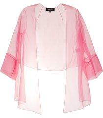 paule ka asymmetric transparent blazer - pink