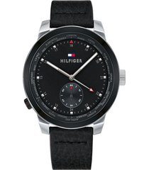reloj tommy hilfiger modelo denim pinnacle negro hombre