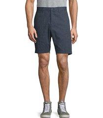geometric-print cotton blend shorts