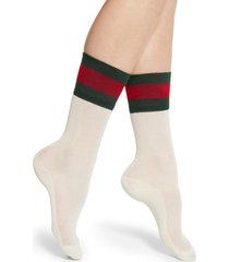 women's gucci suzanne socks, size medium - grey