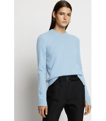 proenza schouler eco cashmere sweater 00427 chambray blue l
