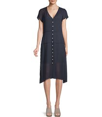 mccormick sheer button-up dress