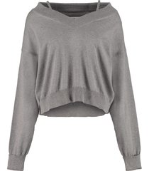 maison margiela newbasic off-shoulders pullover