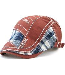 uomo vintage berretto regolabile in cotone con applicazione di lettere ricamate con visiera a proteggere da sole