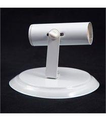 spot de sobrepor em alumínio para 1 lâmpada tubo branco