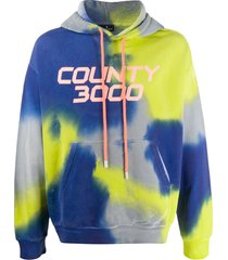 marcelo burlon county of milan county 3000 tie-dye hooded sweatshirt -