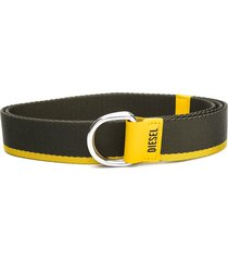 diesel d-ring buckle belt - green