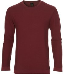 city line by nils pullover - slim fit - rood