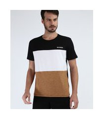 "camiseta masculina com recorte wild motors"" manga curta gola careca preto"""