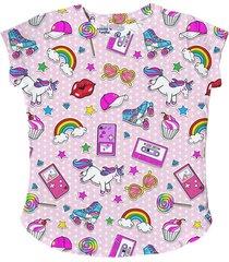 mc2 saint barth nineties patch print girls t-shirt