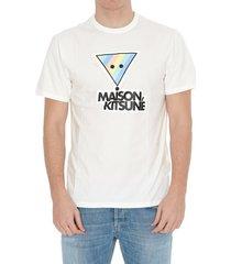 maison kitsuné rainbow triangle t-shirt