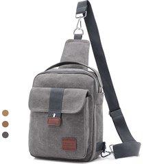 sacchetto trasversale della borsa della borsa della borsa della borsa dell'annata della borsa della tela di canapa multiuso per gli uomini