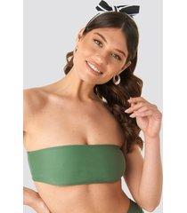 na-kd swimwear bandeaubikini-överdel - green