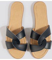 trendyol milla slippers - blue