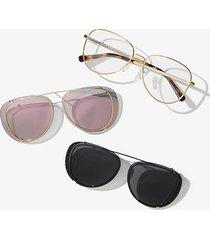 mk 3-in-1 occhiali da vista sicily - oro rosa (oro rosa) - michael kors