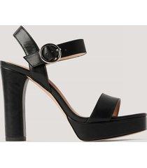 na-kd shoes högklackade platåsandaler - black