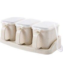 múltiples capas sazonador sal pimienta azúcar jar latas contenedor spi