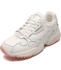 tenis lifestyle blanco adidas originals falcon trail w