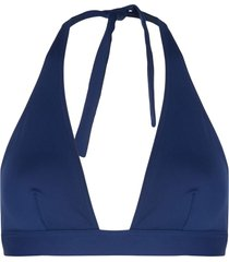 eres halter bikini top - blue