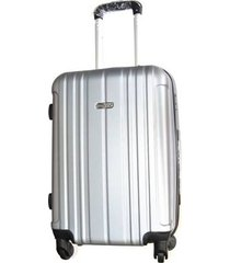 espectacular maleta pequeña 20 pulgadas cabina 4 ruedas 360º abs - plateado