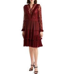women's french connection clandre lace fit & flare dress