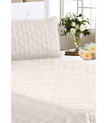 colcha + jogo de cama  clean 3pã§s casal queen branco cotex - multicolorido - dafiti