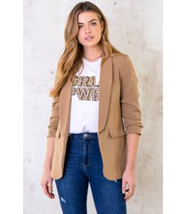 girl power top loose fit taupe