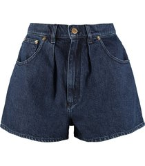 alberta ferretti denim shorts