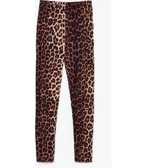 womens cat stop loving you high-waisted leopard leggings - black