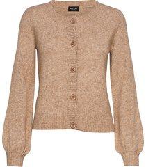5210 - amaral stickad tröja cardigan brun sand