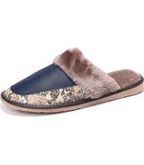 scarpe da casa impermeabili in pelle in pelle scarpe calde in peluche calde
